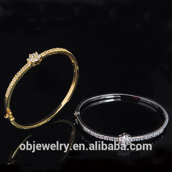 FACTORY DIRECT WHOLESALE 14K NEW GOLD BRACELET dESIGNS WITH CRYSTAL FOR SEX WOMEN