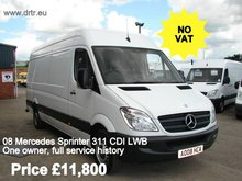 MERCEDES BENZ SPRINTER 311 closed box minibus for sale
