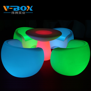 Rechargeable Acrylic Led Sofa Furniture Outdoor For Bar Set