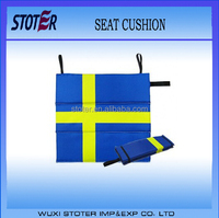 Sweden national flag printing foam foldable seat cushion , yellow blue foldable seat cushion