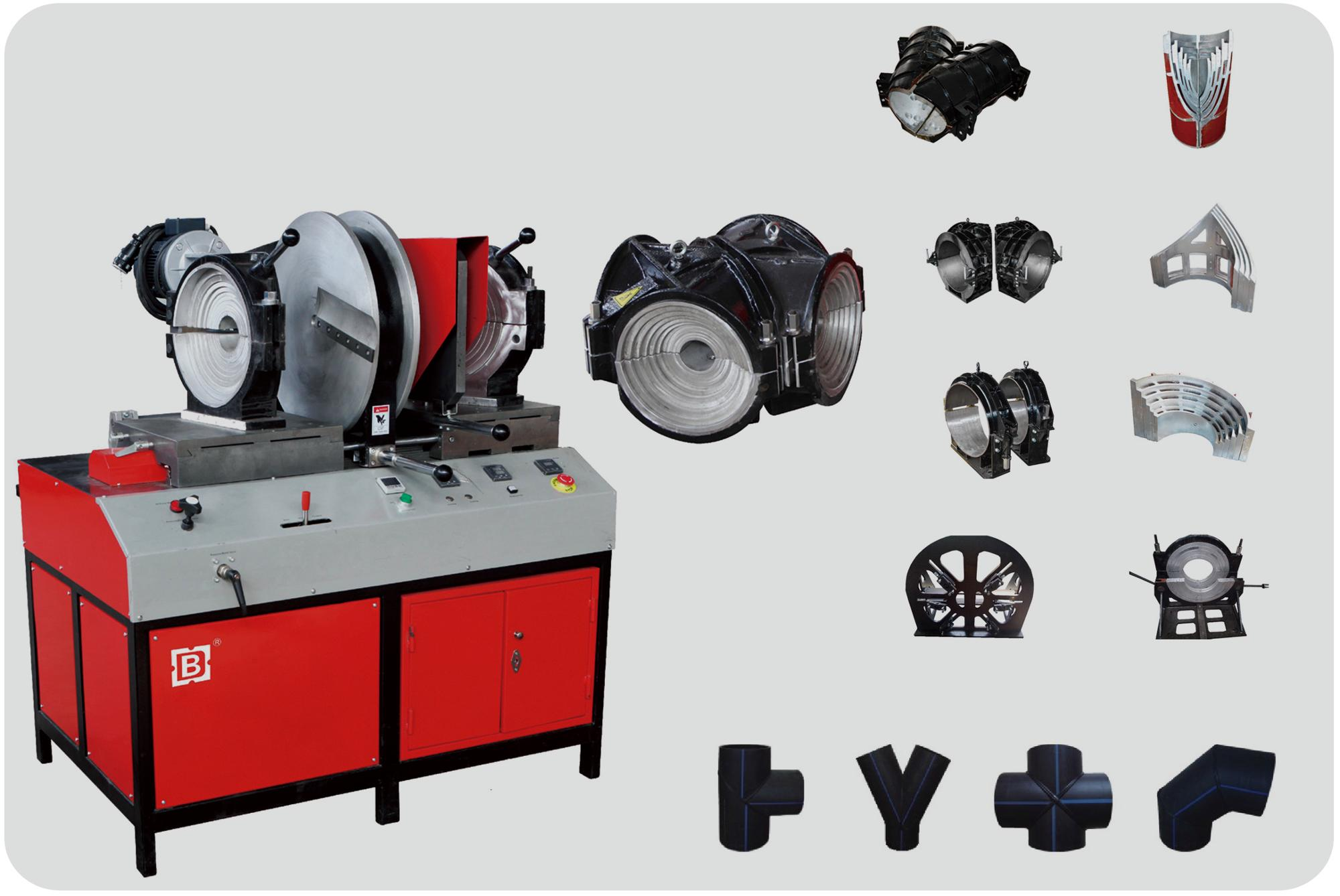 wuxi shengda SHG315 Workshop plastic pipe fitting fusion Welding Machine