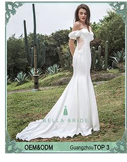 2018 Boho Ombro Off Lace Applique Vestidos de Casamento Do Vestido Nupcial Feito Sob Encomenda Para As Mulheres