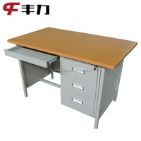 Solid wood & steel office furniture office table / cheap office desk with drawers lock