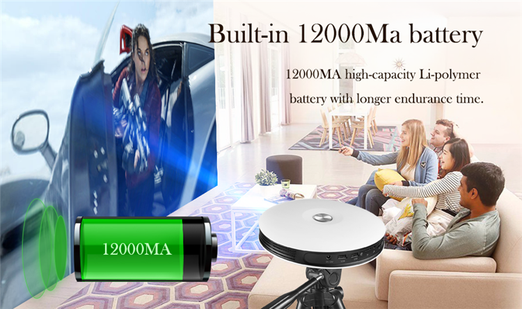 full hd Portable projector D08 3D 4K RK3368 2G 8G 220 ANSI Lumens laser projector with 3d hologram projector
