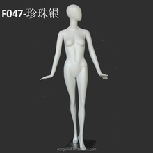 Brand window display custom girl full body model with abstract egg head