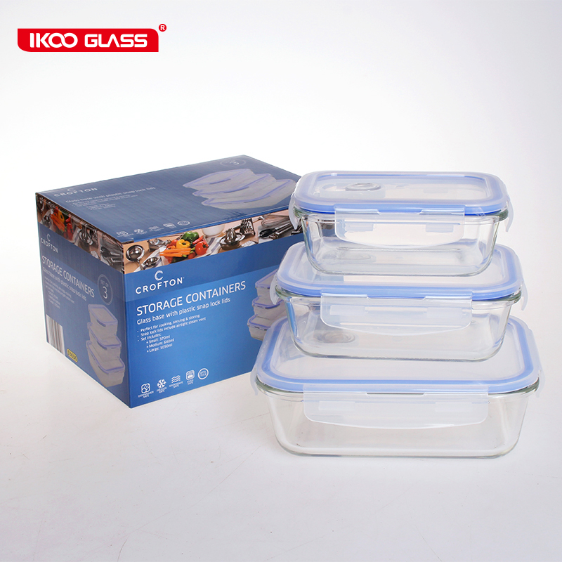 Aldi Hot Selling 6 Pcs Rectangle Glass Food Container Set Buy Food