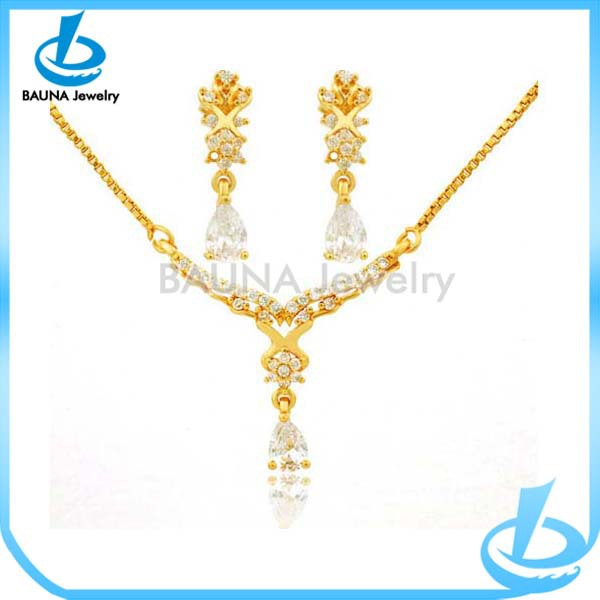 small gold necklace sets images