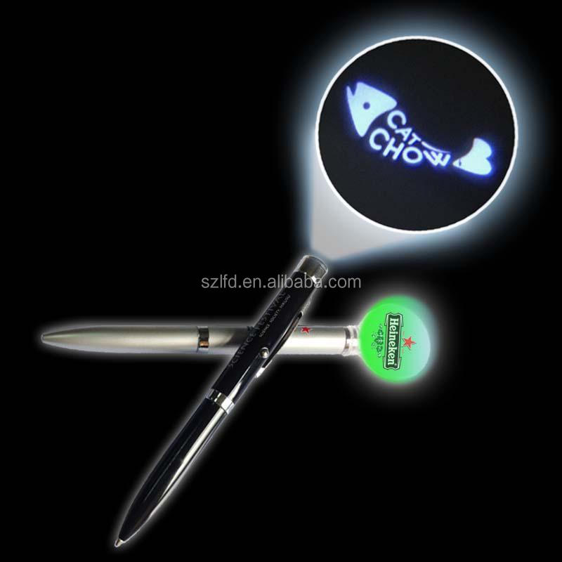 hot selling projector logo led pen,Flashlights Type and Dry Battery Power Source promotional pen with uv led light