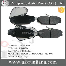 7701202050 semi-metal brake pads for RENAULT MEGANE I 1.6L 1996