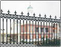 Alibaba supplier wholesale powder-coating wrought iron fence ZX-ZTHL004