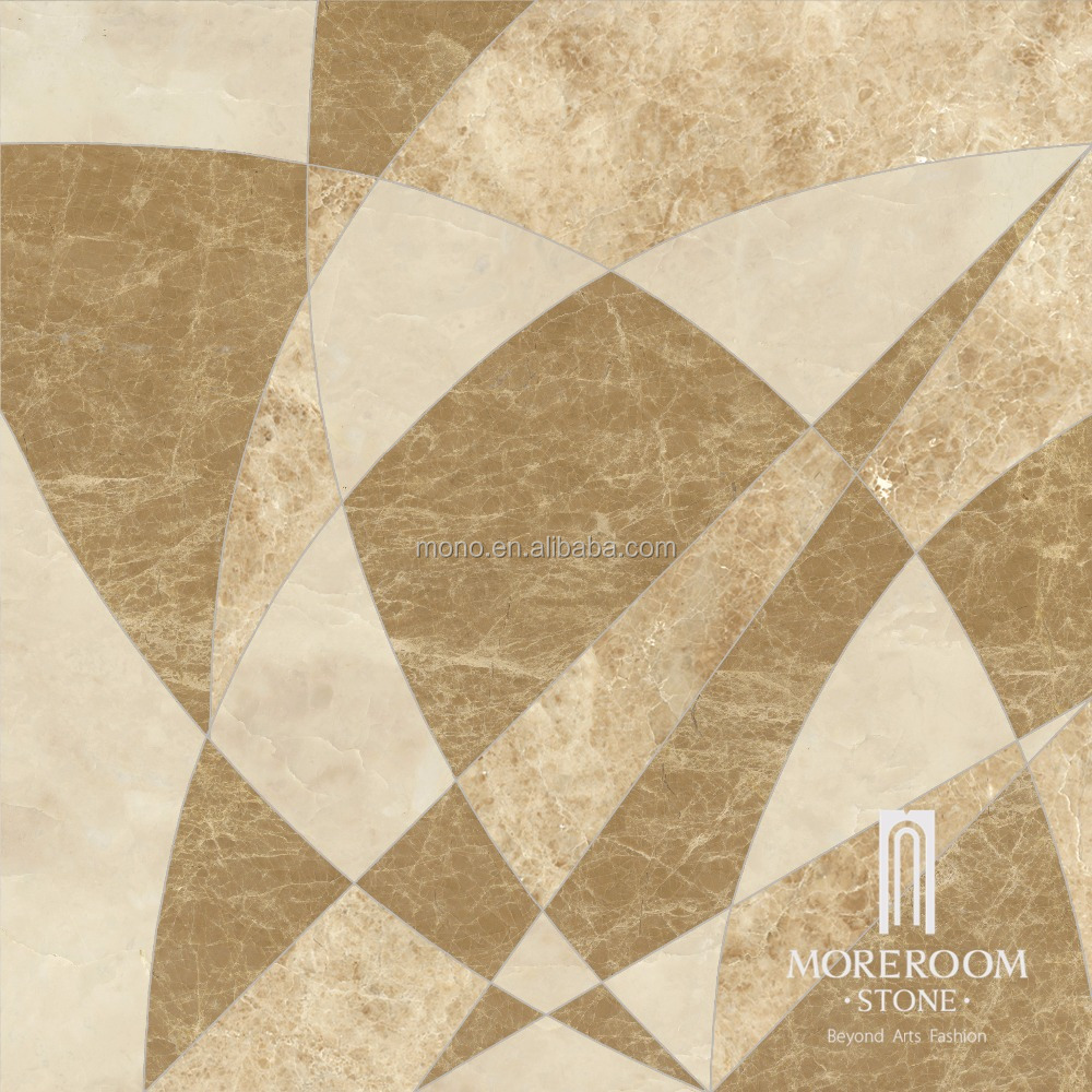 Spain Beige Marble Thin ceramic backed medallion 60x60 floor tile