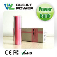 Special stylish lipstick power bank cross 2600mah