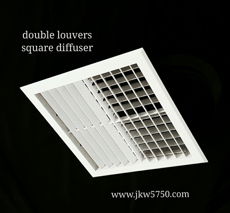 Air Conditioning ABS Louver Faced Diffuser in 4 Way Patterns