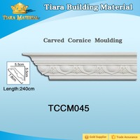 Decorative polyurethane wall ceiling cornice mouldings with high quality for whole world