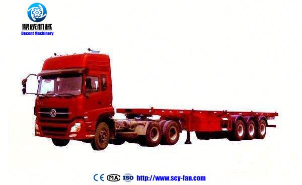 40ton 3 axle automatic transmission semi trucks flat bed semi-trailer with removable 600mm side wall