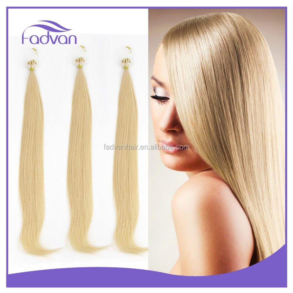 Factory Price Wholesale Remy Human Hair Brazilian Micro Ring Loop Hair Extensions