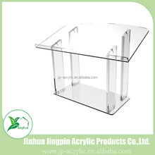 Tabletop acrylic podium clear lucite church school pulpit lectern