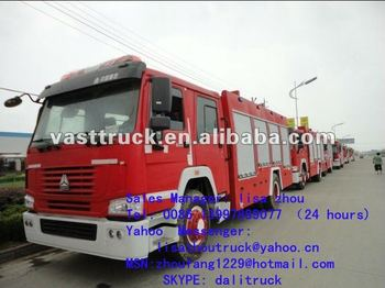 HOWO 4*2 water and foam 8T fire fighting truck