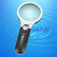 NO.6902A 75mm LED Dual Light Handhold Magnifying Glass