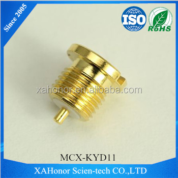 MCX Female straight bulkhead RF Coaxial Connector for Microstrip using