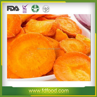 Dehydrated Healthy Frozen dried Sliced Carrot Freeze Dried vegetable