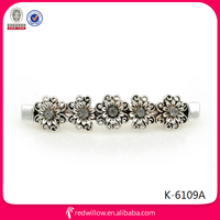 Manufacture wholesale diamante metal hair stick clips for long hair