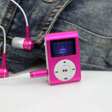 Portable MP3 LCD Screen Metal Mini Clip MP3 <strong>Player</strong> with Micro TF/SD Card Slot Sport Mp3 Music <strong>Players</strong> Walkman