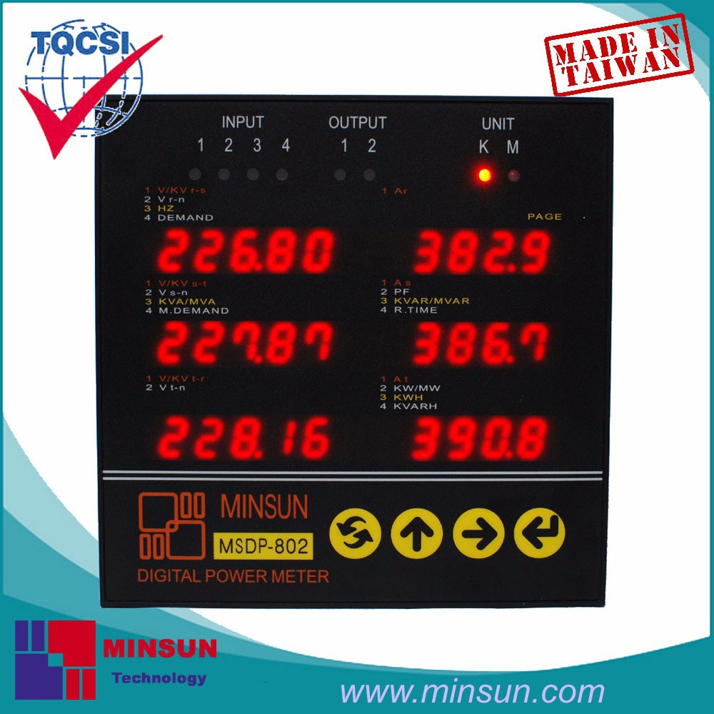 MSDP-802 LED Display Three Phase 6 Windows Multifunction Power Meter