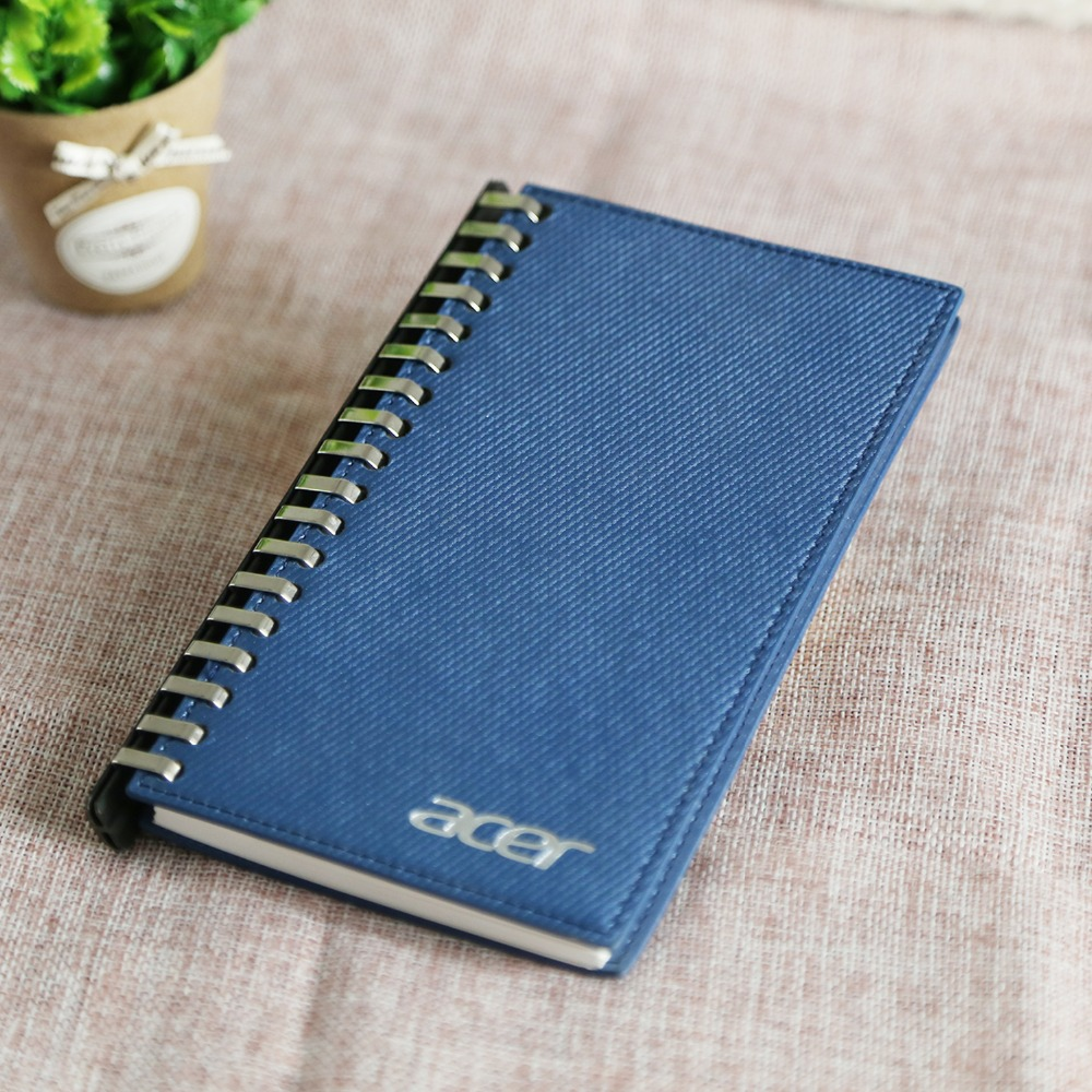 wholesale custom printed PU spiral notebook
