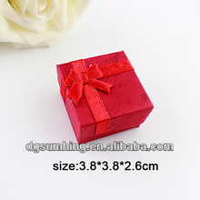 Customized Red 5x7 gift box Jewelry boxes&organizers With Tie-bow