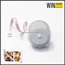 Fashion sparkling mini round jewelry covered tape measure wedding shop souvenirs