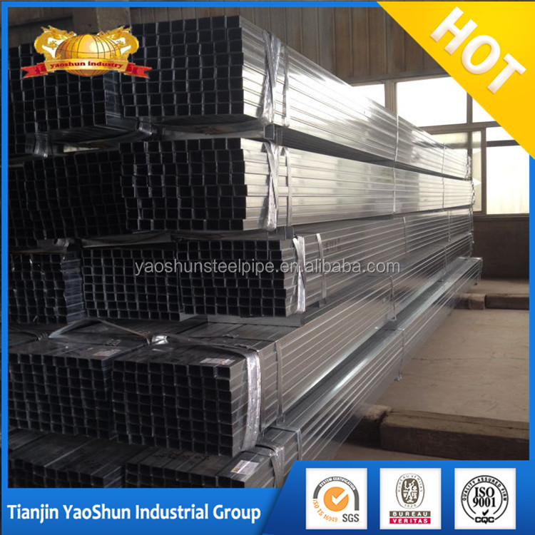 Myanmar market 0.6mm cold rolled pre galvanized iron pipe/tube for furniture use