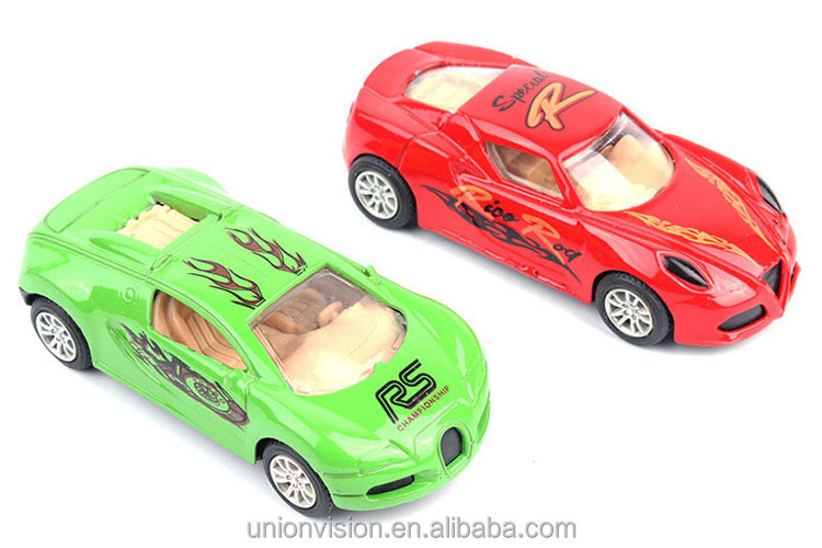 1:55 Scale Alloy Diecast Pull-back Car Toy, 2 Cars in