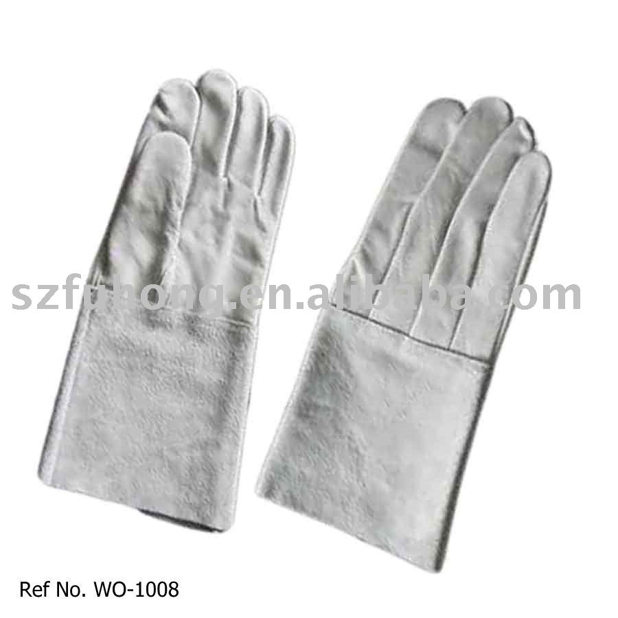 long cuff cow grain for hand and arm protection welding safety products
