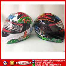 KCM1621 comfortable and breathable ABS anti-smashing anti-fog mirror helmet full face riding racing MOTO motorcycle helmet