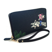 Womens Leather Credit Card Wallet to Organize Your Cash Passport Card and Phone with Removable Wristlet Strap Zipper Wallet