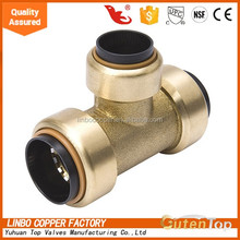 "YuHuan Linbo brass push fitting 1/2""*1/4""FNPT Nickle Plated angle check valves"