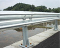 highway safety metal corrugated guardrail with flange post