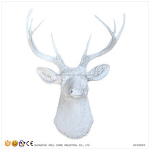 2016 Trending Products White Wall Art Resin Deer Antler Decor