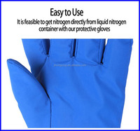 Gloves withstand minus 250 degrees Celsius low temperature high quality cheap cryogenic gloves