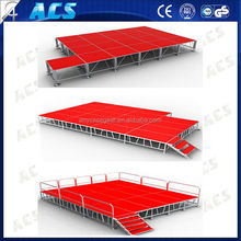 Updated design used portable aluminum stage outdoor concert stage on sales