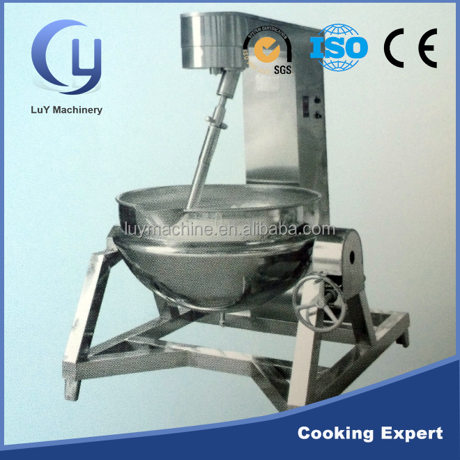 Factory price stainless steel cooking jacket with automatic stir