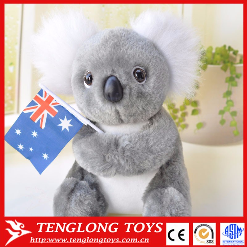 stuffed plush toy Australia koala bear with flag