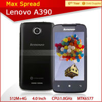 4.0 inch cheap lenovo a390 android 4.0 5mp camera 3g china cellphone