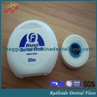 FDA approved waxed unwaxed PTFE flat floss thread dental floss