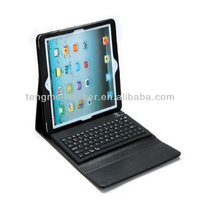 Leather stand case cover with wireless bluetooth keyboard for apple iPad air 5,black cover case for ipad air/ipad 5