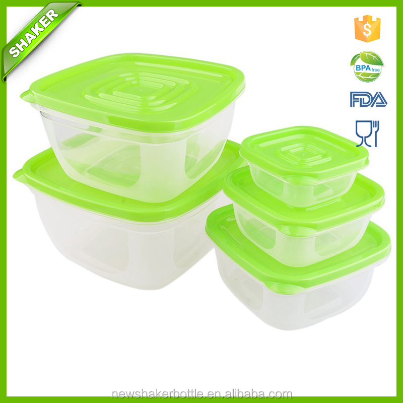 5 Pcs Plastic Food Container Hot Sale Preserving Box