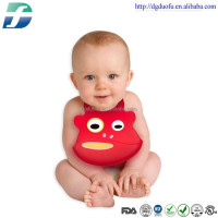 Custom-made Multi-colour reuseable non-toxic Silicone bib for baby