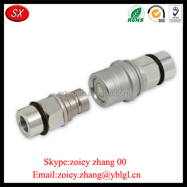 China Manufacturer Custom High Precision Carbon Steel Automatic Quick Release Coupling