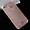 Clear TPU Brushed Metal Hard Mobile Phone Case For iPhone 7 Aluminum Case